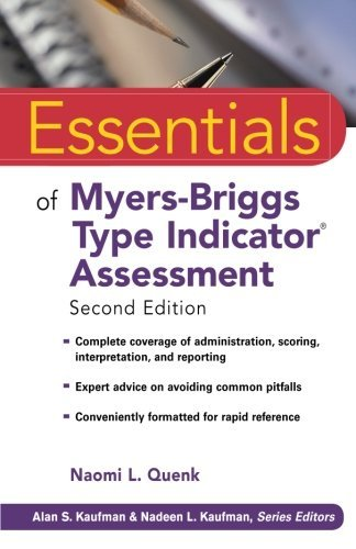 Naomi L. Quenk Essentials Of Myers Briggs Type Indicator Assessme 0002 Edition;