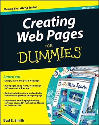 Bud E. Smith Creating Web Pages For Dummies [with Cdrom] 0009 Edition;