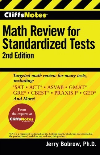 Jerry Bobrow Cliffsnotes Math Review For Standardized Tests 0002 Edition;