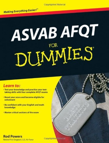 Rod Powers Asvab Afqt For Dummies