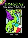 John Green Dragons Stained Glass Coloring Book