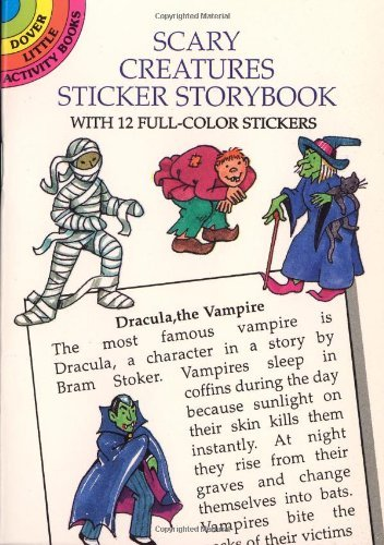 Cathy Beylon Scary Creatures Sticker Storybook
