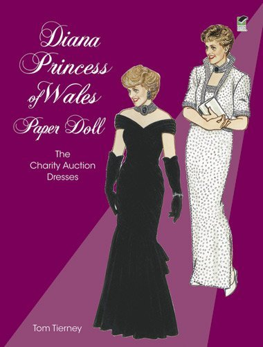 Tom Tierney Diana Princess Of Wales Paper Doll The Charity Auction Dresses