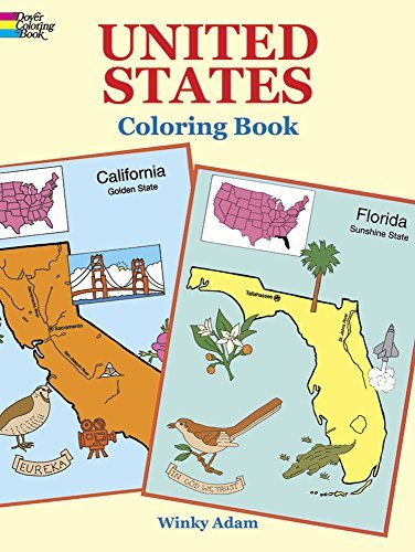 Adam Winky United States Coloring Book
