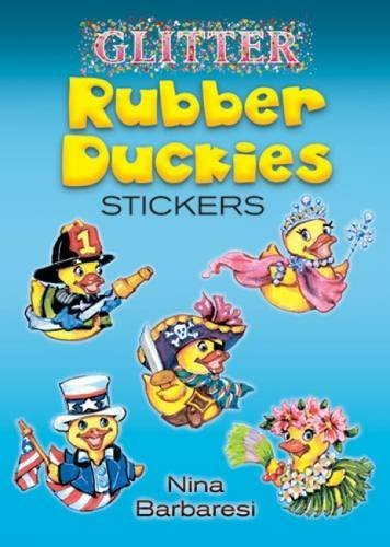 Nina Barbaresi Glitter Rubber Duckies Stickers