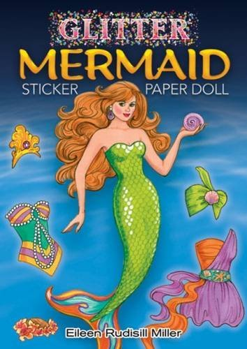Eileen Rudisill Miller Glitter Mermaid Sticker Paper Doll