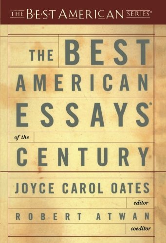 Joyce Carol Oates The Best American Essays Of The Century