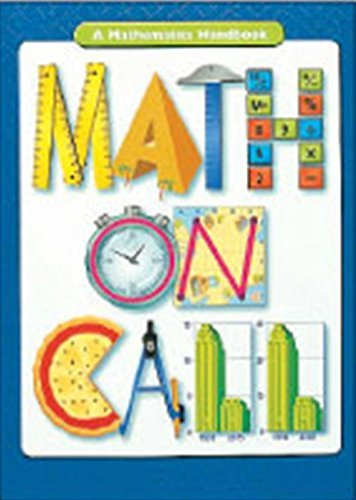 Great Source Education Group Great Source Math On Call Handbook Softcover Grades 6 8 2004 0002 Edition;