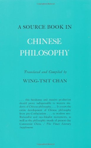 Wing Tsit Chan A Source Book In Chinese Philosophy