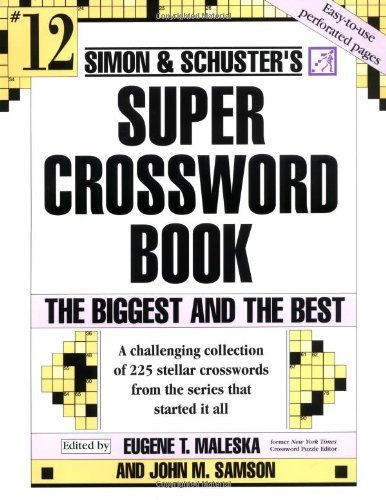 John M. Samson Simon And Schuster Super Crossword The Biggest And The Best Original