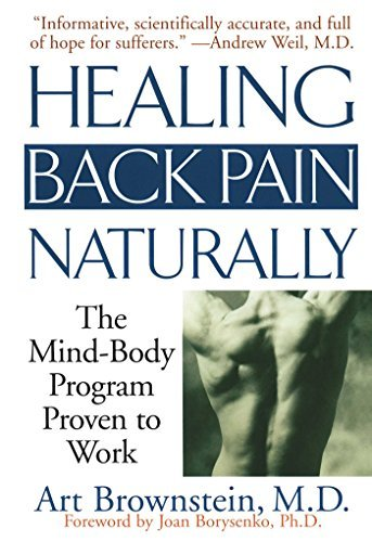 Art Brownstein Healing Back Pain Naturally The Mind Body Program Proven To Work