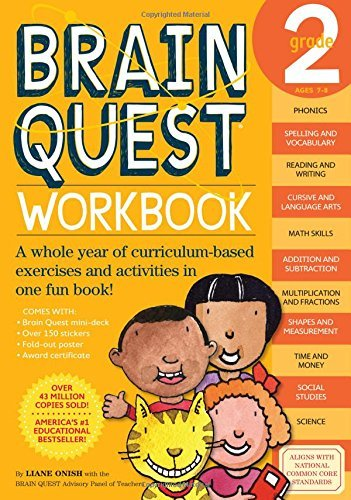 Liane Onish Brain Quest Grade 2 Workbook [with Stickers]