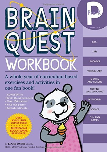 Liane Onish Brain Quest Pre K Workbook [with Stickers]