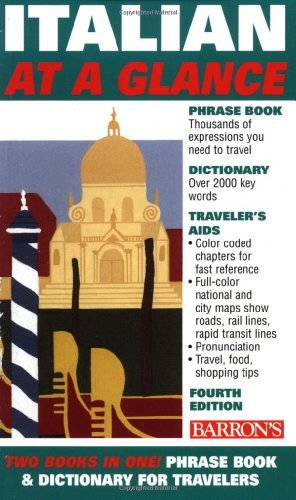 Mario Costantino Italian At A Glance Phrase Book & Dictionary For Travelers 0004 Edition;