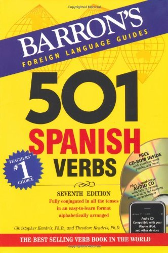 Christopher Kendris Ph. D. Barron's 501 Spanish Verbs [with Cdrom And CD (aud 0007 Edition;