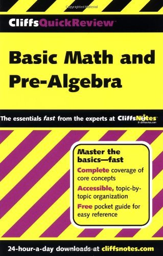 Cliffs Notes Basic Math And Pre Algebra