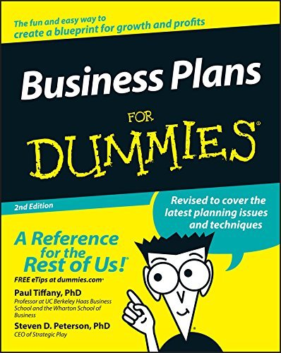 Paul Tiffany Business Plans For Dummies 0002 Edition;