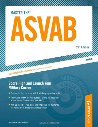 Scott A. Ostrow Arco Master The Asvab Armed Services Vocational Aptitude Battery 0021 Edition;