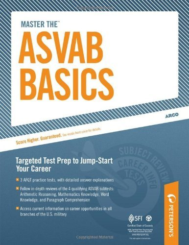 Peterson's Master The Asvab Basics Chapter 9 Of 12 0008 Edition;