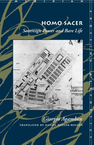 Giorgio Agamben Homo Sacer Sovereign Power And Bare Life