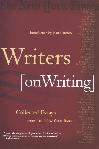 John Darnton Writers On Writing Collected Essays From The New York Times