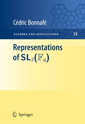 Cedric Bonnafe Representations Of Sl2(fq) 2011