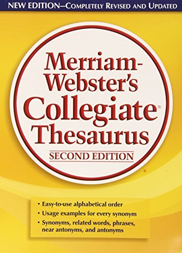 Merriam Webster Merriam Webster's Collegiate Thesaurus 0002 Edition;
