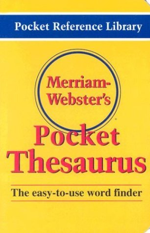 Merriam Webster Merriam Webster's Pocket Thesaurus