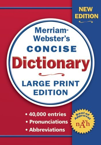 Merriam Webster Merriam Webster Concise Dictionary Large Print