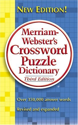 Merriam Webster Merriam Webster's Crossword Puzzle Dictionary 0003 Edition;