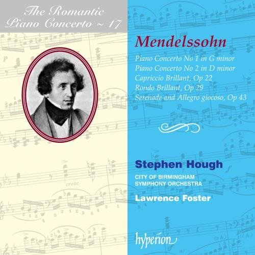 Felix Mendelssohn Piano Concerti 1 & 2 Capriccio Hough*stephen (pno) Foster City Of Birmingham So