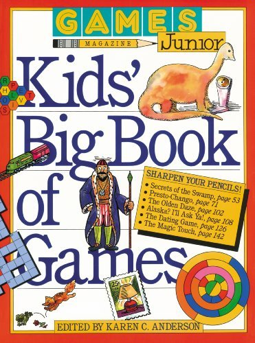 Karen C. Anderson Games Magazine Junior Kids' Big Book Of Games