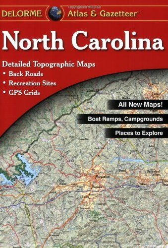 Delorme Mapping Company North Carolina Atlas & Gazetteer 0010 Edition;