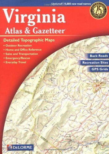Rand Mcnally Virginia Atlas & Gazetteer 0007 Edition;