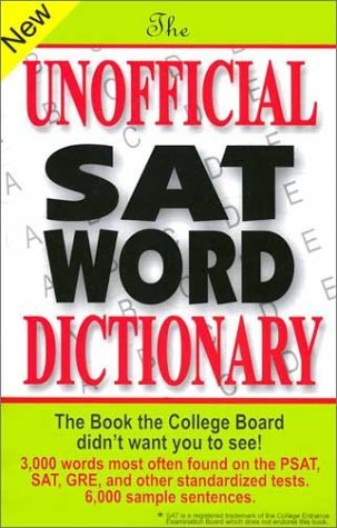 Sam Burchers Unofficial Sat Word Dictionary The