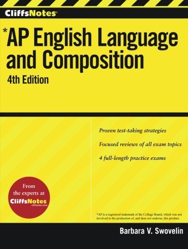Barbara V. Swovelin Cliffsnotes Ap English Language And Composition 0004 Edition;