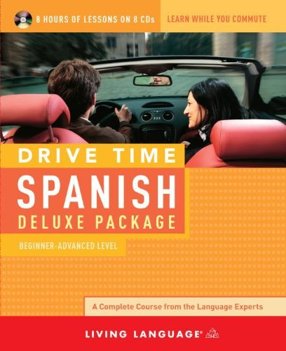 Living Language Drive Time Spanish Deluxe Package Beginner Advanced Level