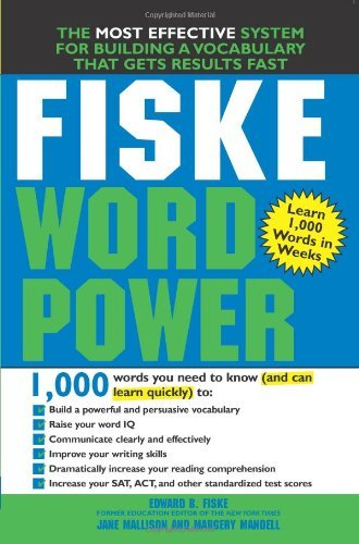 Edward B. Fiske Fiske Word Power The Exclusive System To Learn Not Just Memorize