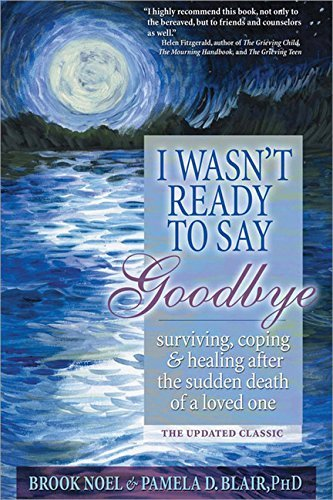 Brook Noel I Wasn't Ready To Say Goodbye Surviving Coping And Healing After The Sudden De Updated