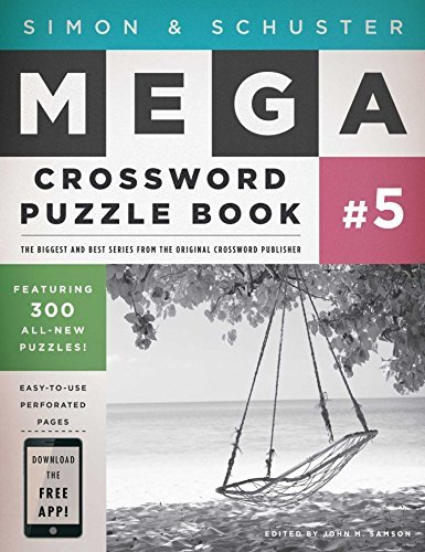 John M. Samson Simon & Schuster Mega Crossword Puzzle Book Serie 300 Never Before Published Crosswords