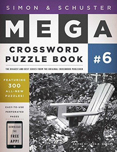 John M. Samson Simon & Schuster Mega Crossword Puzzle Book 300 Never Before Published Crosswords