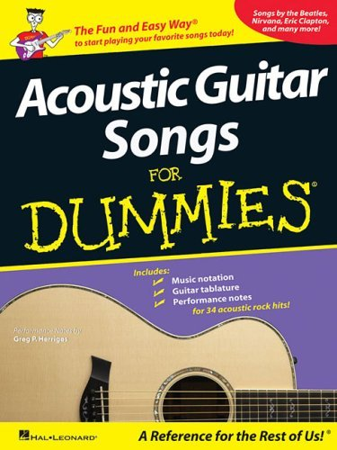 Hal Leonard Corp Acoustic Guitar Songs For Dummies