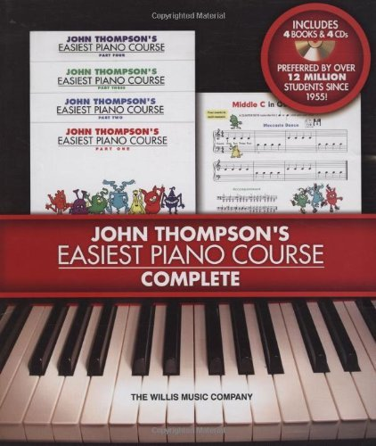 John Thompson John Thompson's Easiest Piano Course Complete 4 Book Audio Boxed Set