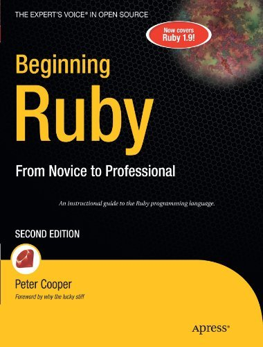 Peter Cooper Beginning Ruby From Novice To Professional 0002 Edition;