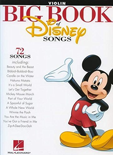 Hal Leonard Publishing Corporation The Big Book Of Disney Songs Violin