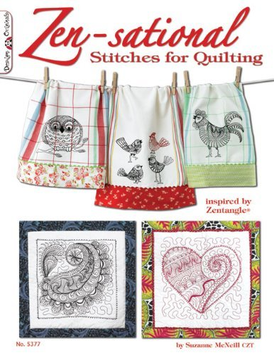 Suzanne Mcneill Zen Sational Stitches For Quilting Inspired By Zentangle (r)