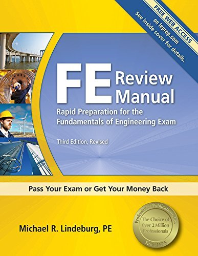 Michael R. Lindeburg Fe Review Manual 0003 Edition;