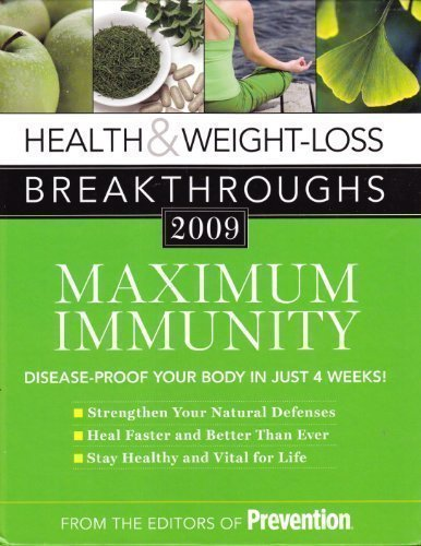 Prevention Magazine Health & Weight Loss Breakthroughs 2009 Maximum I