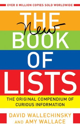 David Wallechinsky The New Book Of Lists The Original Compendium Of Curious Information