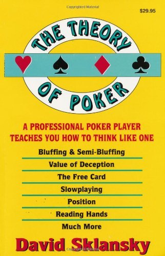 David Sklansky The Theory Of Poker 0003 Edition;revised